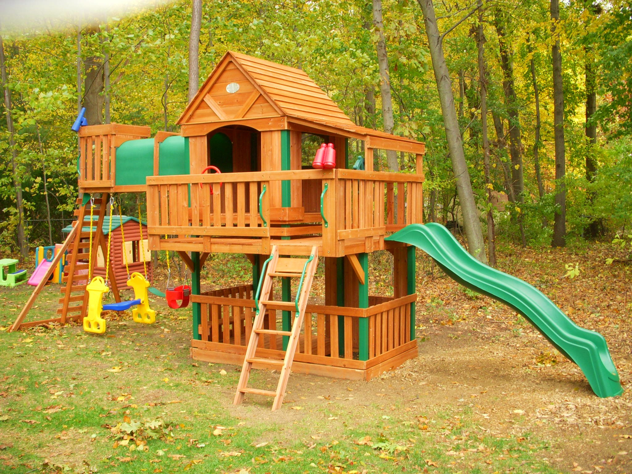 sets supple to dk summit panorama swing video from gallery lifetime playground shelbyville set costco smothery famed in cedar playset