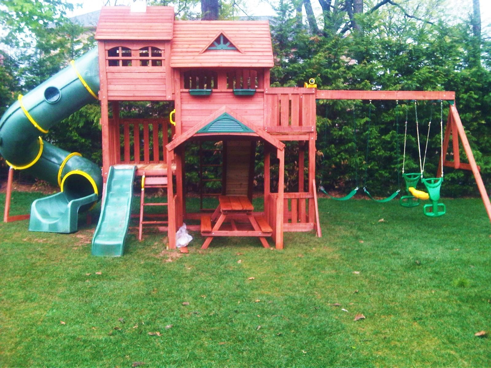 nj highlander swing set installer cedar summit premium playsets