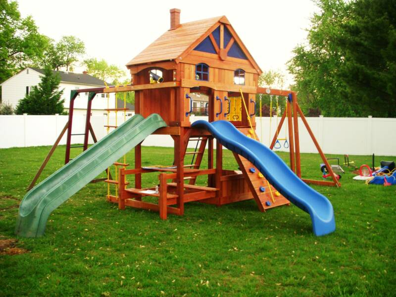 wooden swing sets with installation 3
